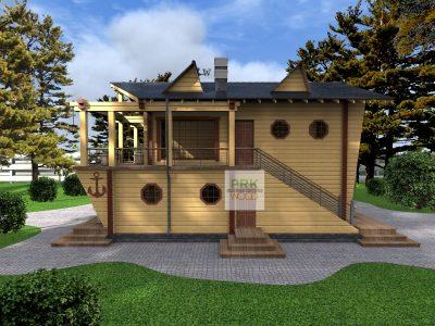 дом в стиле корабля
