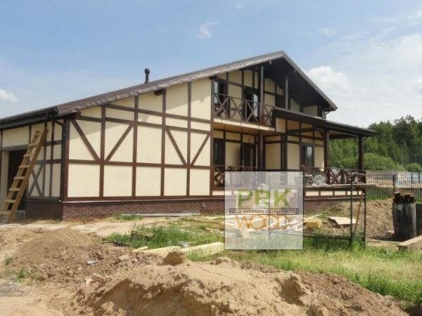 Каркасный дом фахверк фото