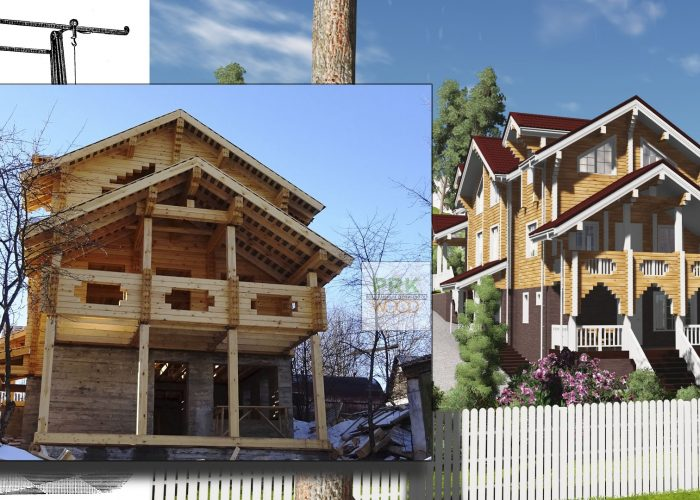 Дом из бруса от проекта до объекта