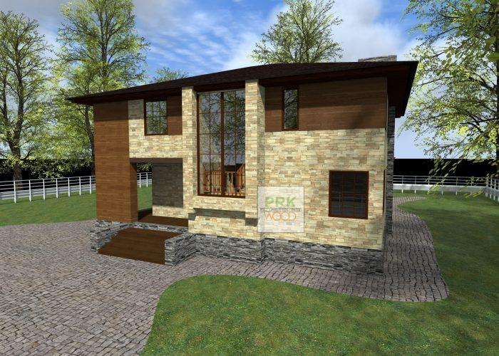 загородный дом из пеноблока