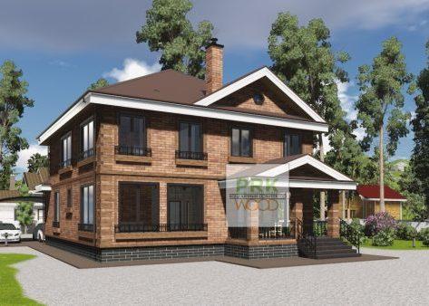 проект дома из теплой керамики с облицовкой клинкером, разработан индивидуальный проект частным архитектором