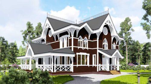 дом со стрельчатыми окнами
