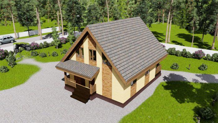 каркасный дом 150кв.м.